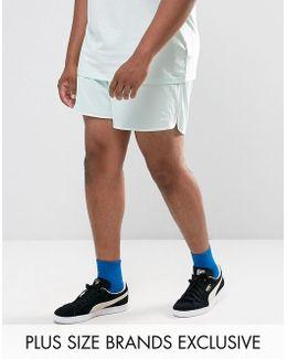 Plus Retro Mesh Shorts In Blue Exclusive To Asos 57590108