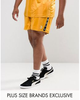 Plus Retro Football Shorts In Yellow Exclusive To Asos 57658001