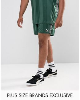 Plus Retro Football Shorts In Green Exclusive To Asos 57658002