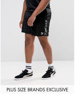 Plus Retro Football Shorts In Black Exclusive To Asos 57658003