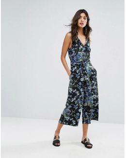 Full Bloom Cropped Jumpsuit