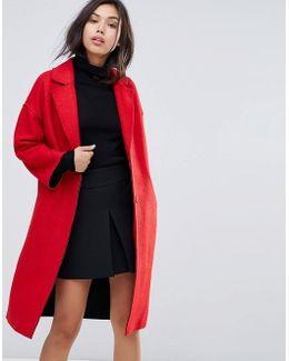 Drop Shoulder Bonded Swing Coat