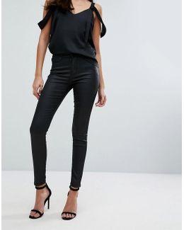 Coated Skinny Cut Jean