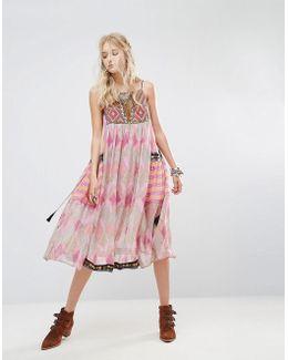 Home Sweet Home Printed Midi Dress