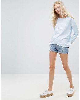 Casual Ripped Denim Shorts
