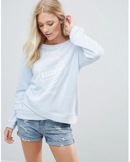 Wrap Print Sweater
