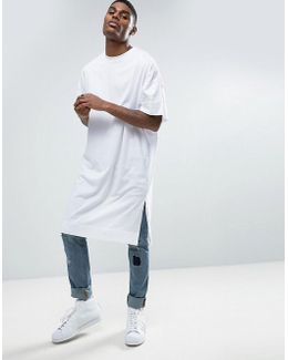 Extreme Longline Super Oversized T-shirt In White