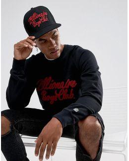 Billionare Boys Club Snapback Cap With Script Logo In Black