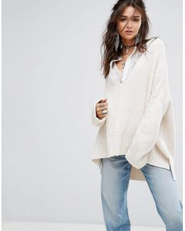 Take Over Me V Neck Knit Jumper
