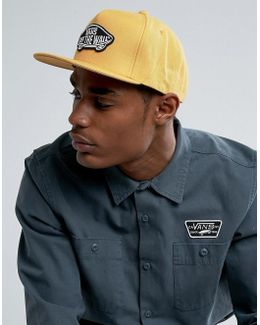 Classic Patch Snapback Cap In Yellow V00tls50x