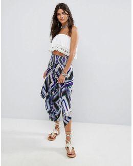 Miranda Angular Pull On Wide Trousers