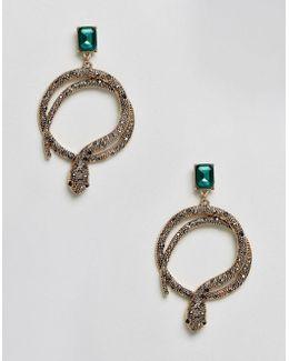 Crareven Snake Hoop Earrings