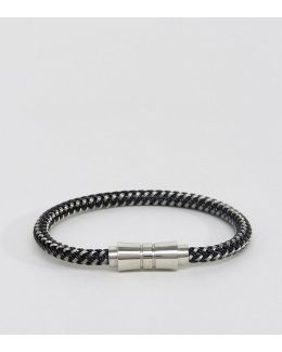 Woven Black & White Bracelet