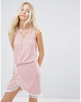 Simone Striped Wrap Dress
