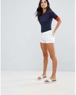 Casual Jayze White Denim Shorts