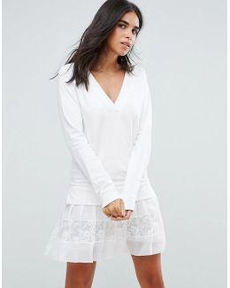 Aliza Layered Pleated Lace Dress