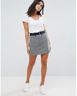 Stripe Mash Up Mini Skirt