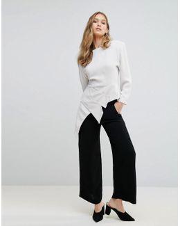 Ducham Drape Wide Leg Trousers
