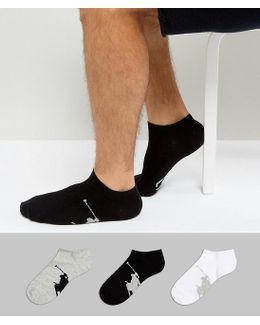 Trainer Socks 3 Pack In Black/white/grey