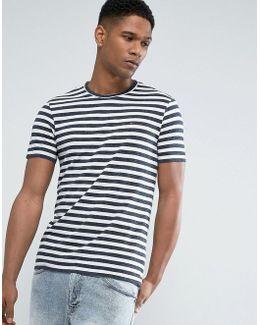 Tommy Stripe T-shirt In Blue