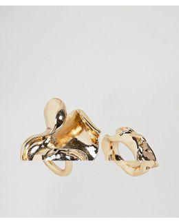 Pack Of 2 Folded Metal Rings