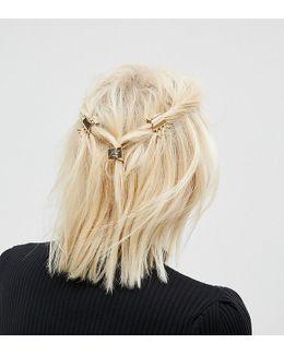 Pack Of 4 Mini Metal Hair Claws
