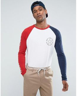 Tommy Long Sleeve Top Icon Raglan Sleeves In White