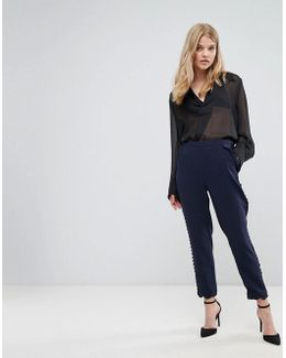 Pant With Scallop Hem