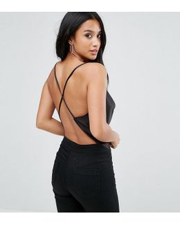 Backless Cowl Neck Top
