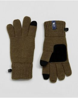 Etip Glove Tech Knit And Suede Palm In Green
