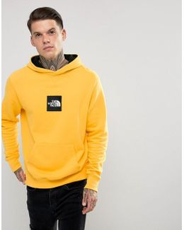 Fine Overhead Hoodie Box Logo In Yellow