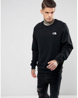 Streetfleece Crew Neck Sweatshirt Chest Logo In Black