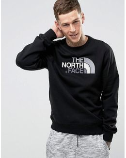 Drewpeak Crew Neck Sweatshirt Chest Logo In Black