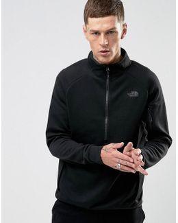Slacker Half Zip Sweatshirt Sports Stretch In Black