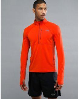 Mountain Athletics Impulse 1/4 Zip Top In Orange