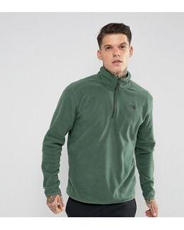 100 Glacier Sweatshirt 1/4 Zip In Dark Green Exclusive To Asos