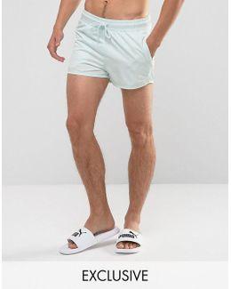 Retro Swim Shorts In Blue Exclusive To Asos 57659603