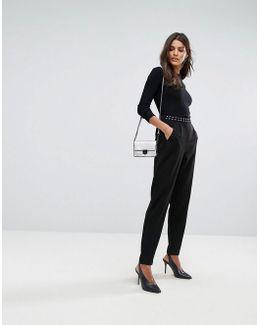 Studded Waistband Trouser