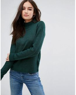 Exclusive High Neck Knitted Sweater