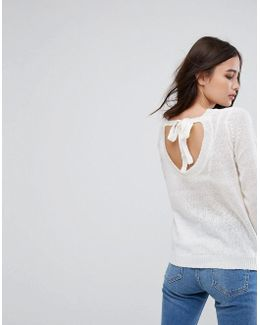 Exclusive Tie Back Knitted Sweater