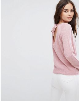 Exclusive Tie Back Knitted Jumper