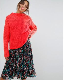 Ombay High Collar Sweater