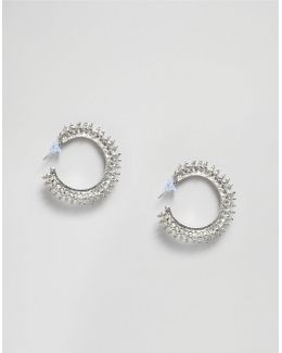 Spiked Hooped Earrings