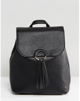 Backpack With Tassle Detail