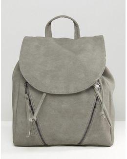 Clean Double Zip Backpack