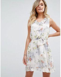 Floral Wrap Tea Dress