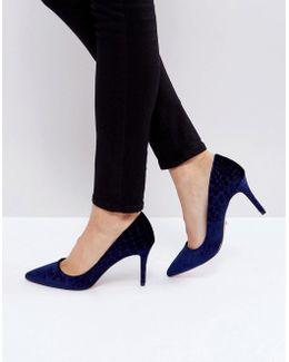 Aisha Velvet Point Court Shoes