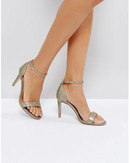 Mortimer Gold Heeled Sandals