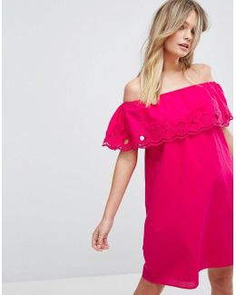 Bardot Double Frill Dress