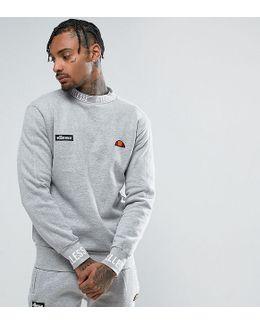 Sweatshirt With Repeat Logo Neck In Grey